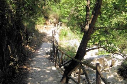 Path to waterfalls Nydri